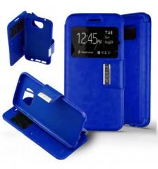 Etui Folio Samsung Galaxy S7 Edge - Bleu