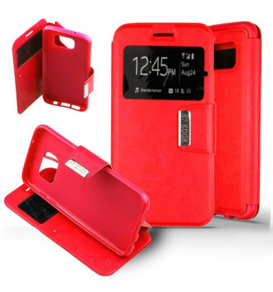 Etui Folio Samsung Galaxy S7 Edge - Rouge