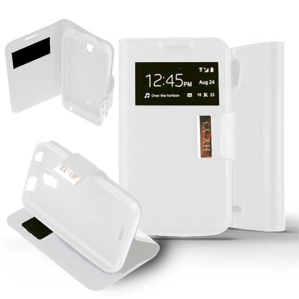 Etui Folio Huawei Y3 / Y360 - Blanc