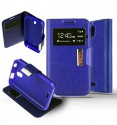 Etui Folio Huawei Y3 / Y360 - Bleu