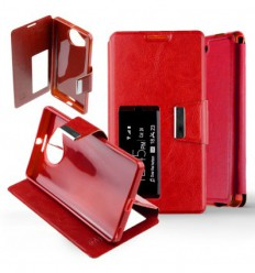 Etui Folio Nokia Lumia 950 XL - Rouge