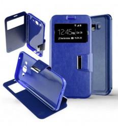 Etui Folio Samsung Galaxy J7 - Bleu