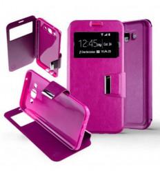 Etui Folio Samsung Galaxy J7 - Rose Fushia