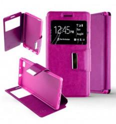 Etui Folio Huawei P8 Lite - Rose Fushia