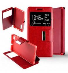 Etui Folio Huawei P8 Lite - Rouge