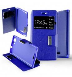 Etui Folio Wiko Ridge Fab 4G - Bleu