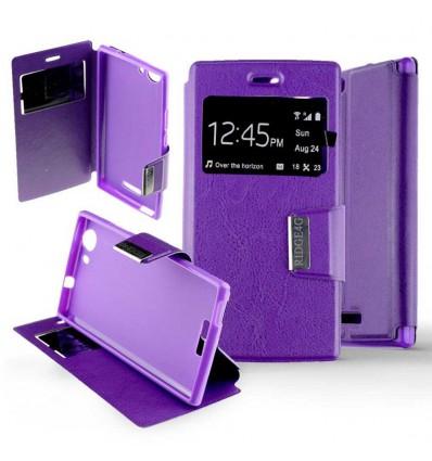 Etui Folio Wiko Ridge 4G - Violet
