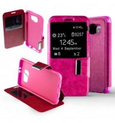 Etui Folio Samsung Galaxy S6 - Rose Fushia