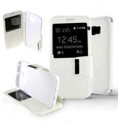 Etui Folio Samsung Galaxy S6 Edge - Blanc