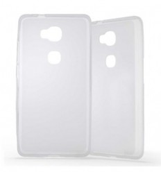 Coque Huawei Honor 5X Silicone Gel givré - Blanc Translucide