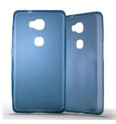 Coque Huawei Honor 5X Silicone Gel givré - Bleu Translucide