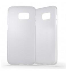 Coque Samsung Galaxy S7 Edge Silicone Gel givré - Blanc Translucide