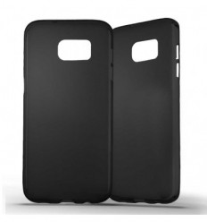 Coque Samsung Galaxy S7 Edge Silicone Gel givré - Noir