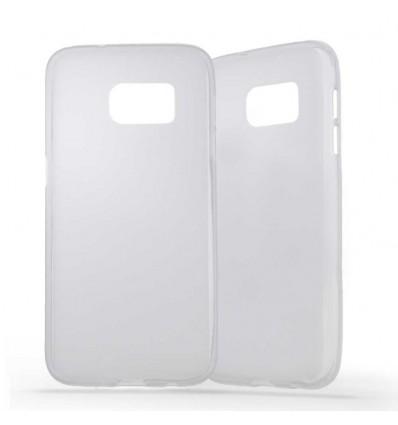 Coque Samsung Galaxy S7 Silicone Gel givré - Blanc Translucide