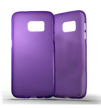 Coque Samsung Galaxy S7 Silicone Gel givré - Violet Translucide