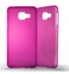 Coque Samsung Galaxy A3 2016 Silicone Gel givré - Rose Translucide