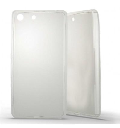Coque Sony Xperia M5 Silicone Gel givré - Blanc Translucide