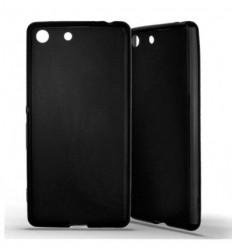 Coque Sony Xperia M5 Silicone Gel givré - Noir