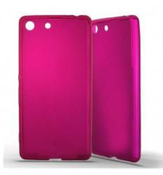 Coque Sony Xperia M5 Silicone Gel givré - Rose Translucide