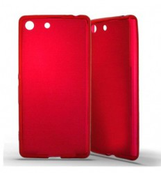 Coque Sony Xperia M5 Silicone Gel givré - Rouge Translucide