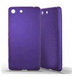 Coque Sony Xperia M5 Silicone Gel givré - Violet Translucide