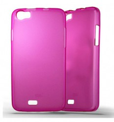 Coque Wiko Lenny Silicone Gel givré - Rose Translucide