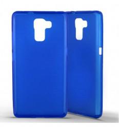 Coque Huawei Honor 7 Silicone Gel givré - Bleu Translucide