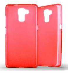 Coque Huawei Honor 7 Silicone Gel givré - Rouge Translucide