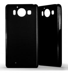Coque Nokia Lumia 950 Silicone Gel givré - Noir