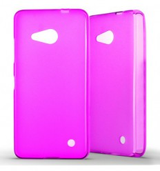 Coque Nokia Lumia 550 Silicone Gel givré - Rose Translucide