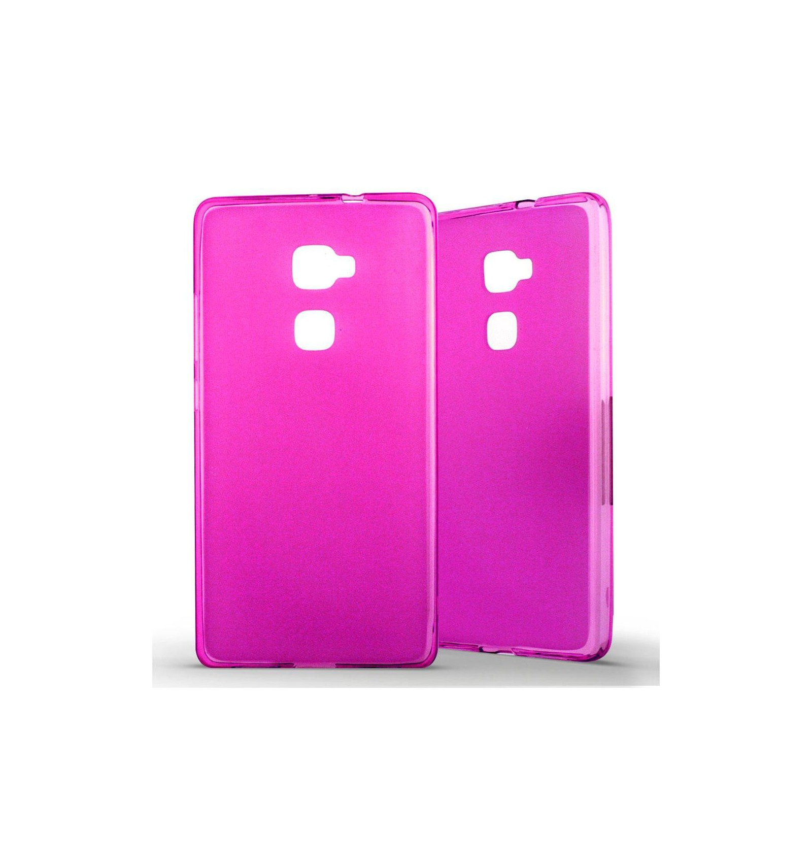 Coque Huawei Mate S Silicone Gel givré - Rose Translucide