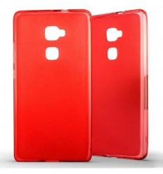 Coque Huawei Mate S Silicone Gel givré - Rouge Translucide
