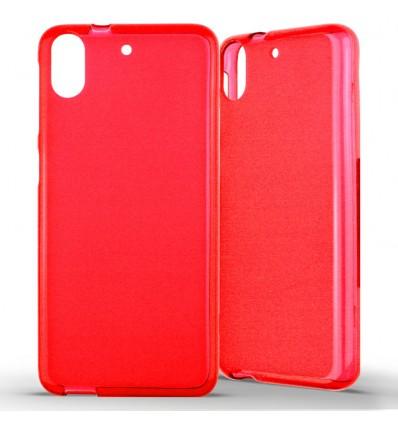 Coque HTC Desire 626 Silicone Gel givré - Rouge Translucide