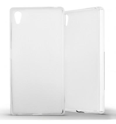 Coque Sony Xperia Z5 Silicone Gel givré - Blanc Translucide