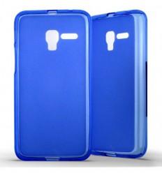 Coque Alcatel One Touch Pop 3 (5) Silicone Gel givré - Bleu Translucide