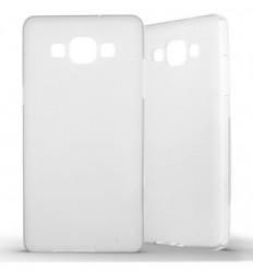 Coque Samsung Galaxy A5 2015 Silicone Gel givré - Blanc Translucide