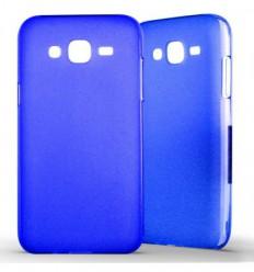 Coque Samsung Galaxy J5 2015 Silicone Gel givré - Bleu Translucide