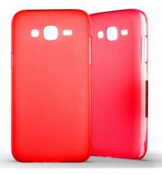 Coque Samsung Galaxy J5 2015 Silicone Gel givré - Rouge Translucide
