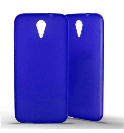 Coque HTC Desire 620 Silicone Gel givré - Bleu Translucide