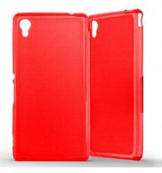 Coque Sony Xperia M4 / M4 Aqua Silicone Gel givré - Rouge Translucide
