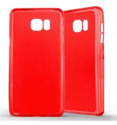 Coque Samsung Galaxy Note 5 Silicone Gel givré - Rouge Translucide