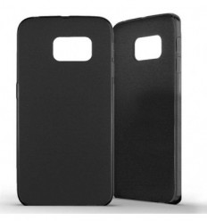 Coque Samsung Galaxy S6 Edge Silicone Gel givré - Noir
