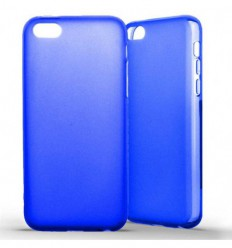 Coque Apple iPhone 5C Silicone Gel givré - Bleu Translucide