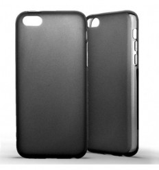 Coque Apple iPhone 5C Silicone Gel givré - Noir