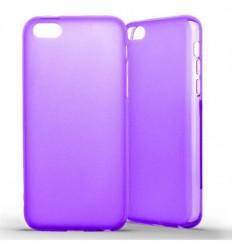 Coque Apple iPhone 5C Silicone Gel givré - Violet Translucide