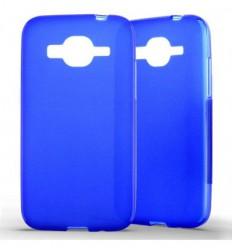 Coque Samsung Galaxy Core Prime / Core Prime VE Silicone Gel givré - Bleu Translucide