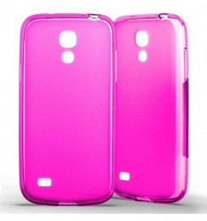 Coque Samsung Galaxy S4 Mini Silicone Gel givré - Rose Translucide