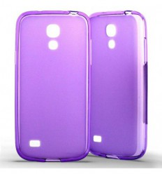 Coque Samsung Galaxy S4 Mini Silicone Gel givré - Violet Translucide