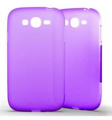 Coque Samsung Galaxy Grand / Grand Plus Silicone Gel givré - Violet Translucide