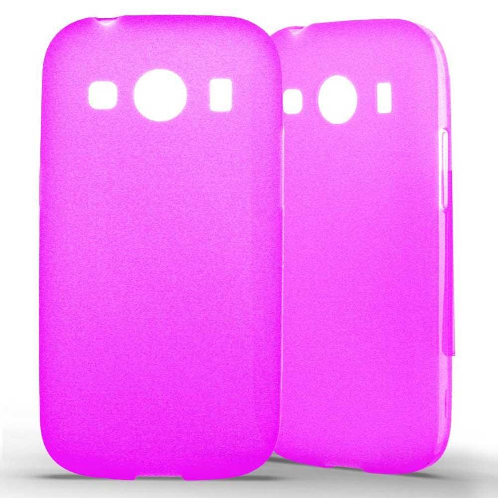 Coque Samsung Galaxy Ace 4 Silicone Gel givré - Rose Translucide